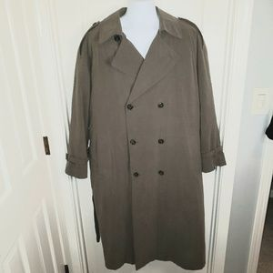 Pierre Cardin Men's Double Breasted Trench Coat
